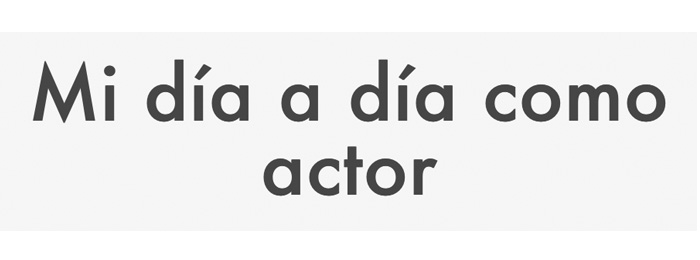 El día a día de un actor a base de GIFs animados